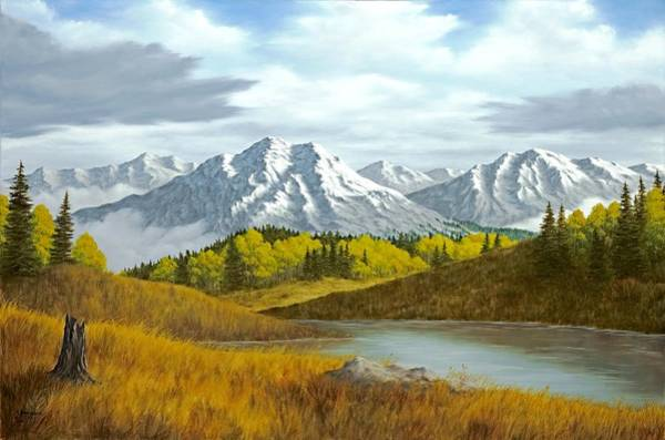 Mountain Lake Painting - High Mountain Autumn by Rick Bainbridge