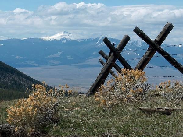 Jackleg Photograph - High Mountain Fenceline by Mark Eisenbeil