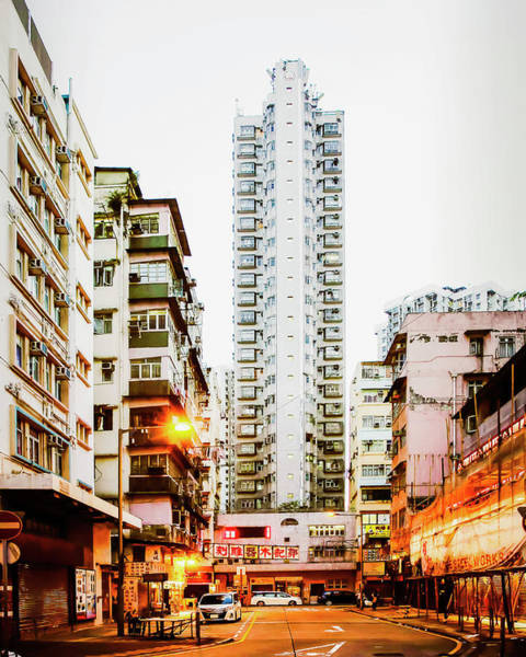 Wall Art - Photograph - High-rise Buildings, A Brightly Light by Robert Benson