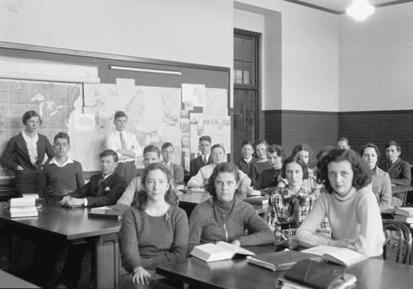 Wall Art - Photograph - High School Class, 1935 by Granger