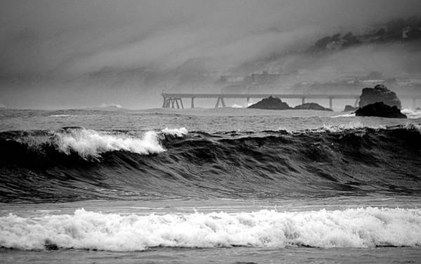 Photograph - High Seas By The Pier by AJ  Schibig