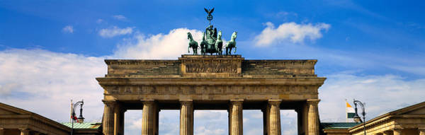 Brandenburg Gate Photograph - High Section View Of A Memorial Gate by Panoramic Images