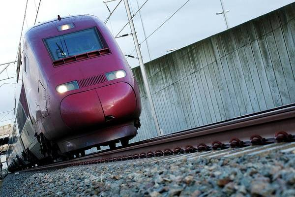Antwerp Photograph - High-speed Train by Danny Gys/reporters/science Photo Library