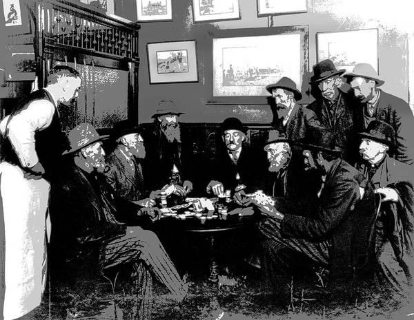 Wall Art - Digital Art - High Stakes Poker - 1913 by Daniel Hagerman