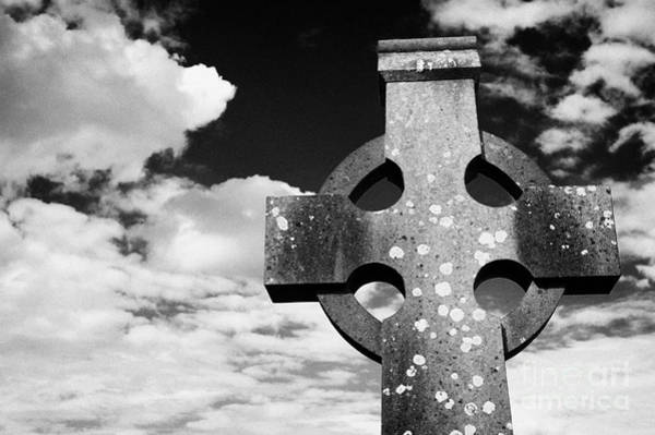 Gaelic Photograph - High Stone Celtic Cross Irish Ireland by Joe Fox