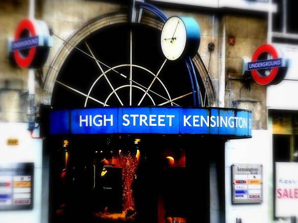 Wall Art - Photograph - High Street Kensington Tube Station by Funkpix Photo Hunter