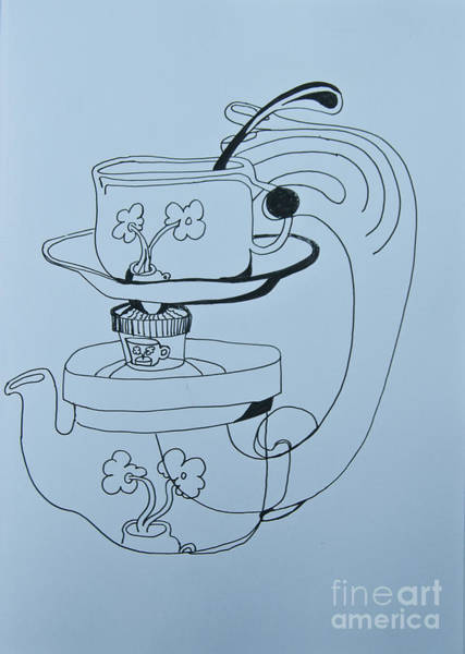 Painting - High Tea - Doodle by James Lavott