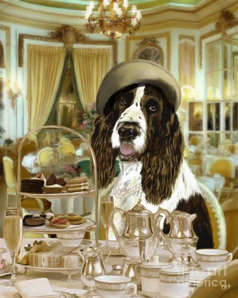 High Tea At The Ritz Art Print