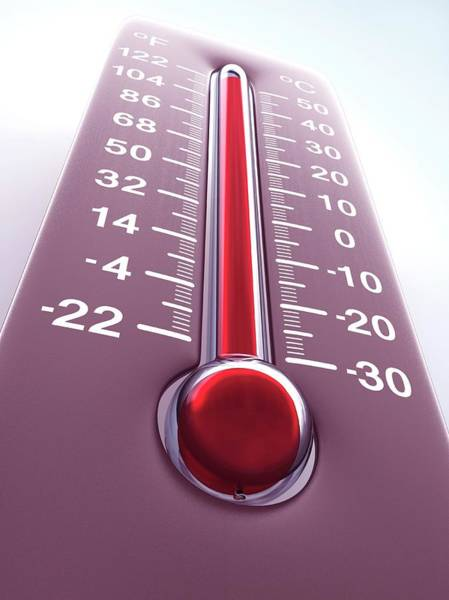 Thermometer Wall Art - Photograph - High Temperature by Ktsdesign/science Photo Library