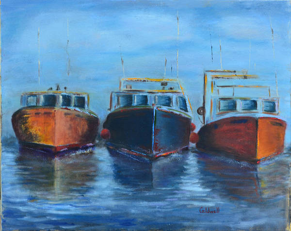 Wall Art - Painting - High Tide Breton Harbor by Patricia Caldwell