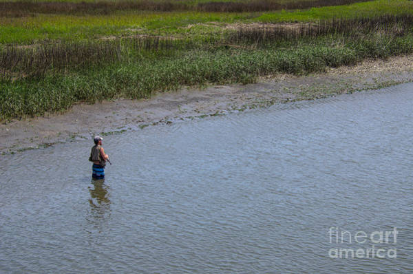 Photograph - High Tide Fishing by Dale Powell