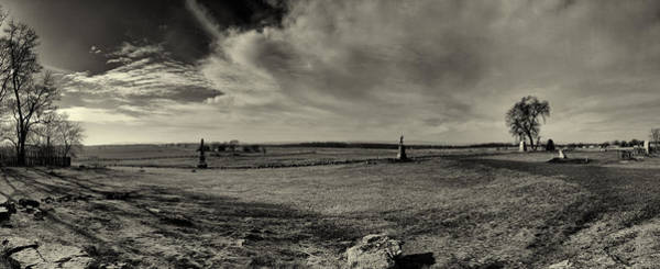 Cemetery Ridge Photograph - High Tide Of The Confederacy Black And White by Joshua House
