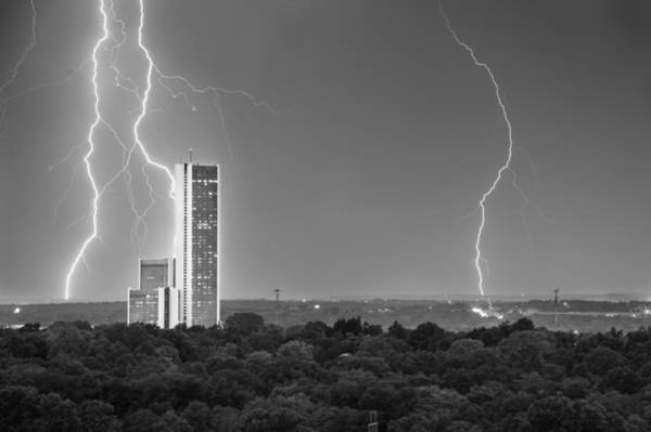 Voltage Photograph - High Voltage Towers - Tulsa Oklahoma by Gregory Ballos