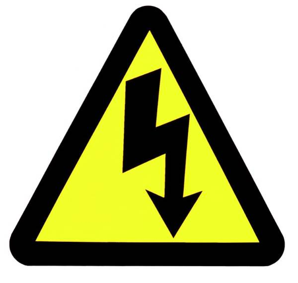 Notice Photograph - High Voltage Warning by Garry Watson/science Photo Library