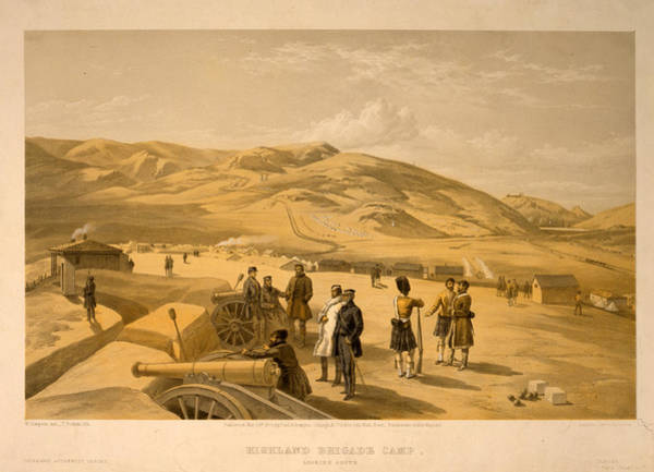 Brigade Drawing - Highland Brigade Camp, Looking South  W. Simpson by Litz Collection