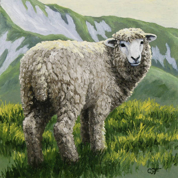 Farm Painting - Highland Ewe by Crista Forest