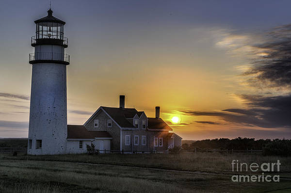 Photograph - Highland Lighthouse At Sunset - Cape Cod by T-S Fine Art Landscape Photography