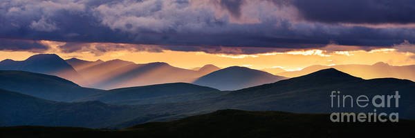 Highland Light Photograph - Scottish Highlands From Meall Nan Tarmachan by Rod McLean