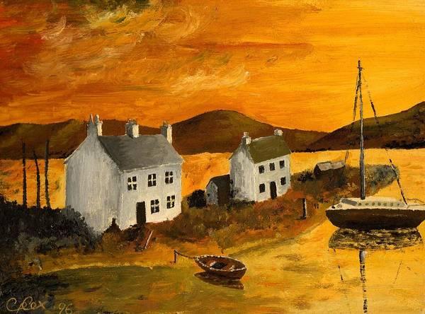 Chris Cox Painting - Highland Sunrise by Chris Cox