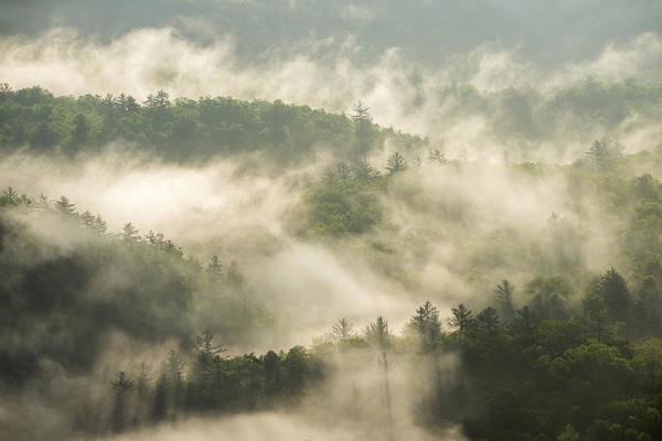 Wall Art - Photograph - Highlands Nc Morning Mist Blue Ridge Mountains Fog by Dave Allen