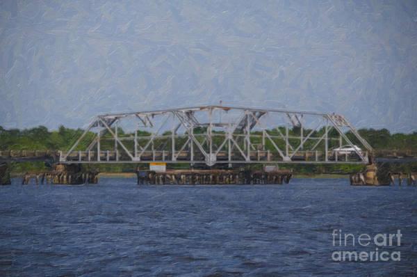 Digital Art - Highway 41 Swing Bridge Over The Wando River by Dale Powell