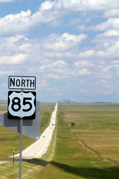 R Photograph - Highway 85 North Road Sign, South by David R. Frazier