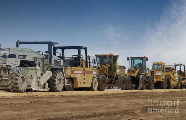 Heavy Duty Truck Wall Art - Photograph - Highway Construction Equipment by Ella Kaye Dickey