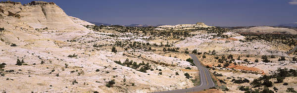 Grand Staircase National Monument Photograph - Highway Passing Through An Arid by Panoramic Images