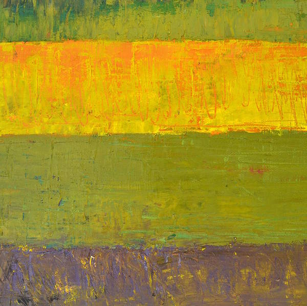 Dark Olive Green Wall Art - Painting - Highway Series - Sunrise by Michelle Calkins