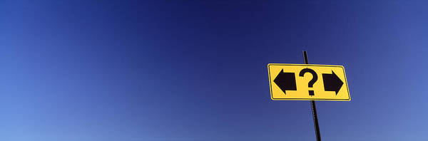 Question Photograph - Highway Sign by Panoramic Images