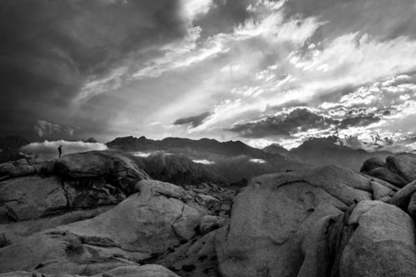 California Adventure Photograph - Hiker At Alabama Hills by Cat Connor
