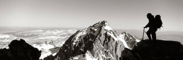Parks And Recreation Photograph - Hiker, Grand Teton Park, Wyoming, Usa by Panoramic Images
