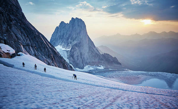 Bugaboo Photograph - Hiking Around A Crevice Of West Ridge by Geoff George