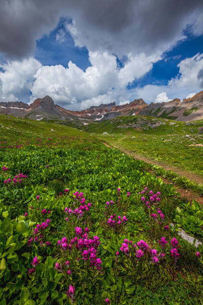Summer Storm Photograph - Hiking Ice Lake Basin by Darren  White