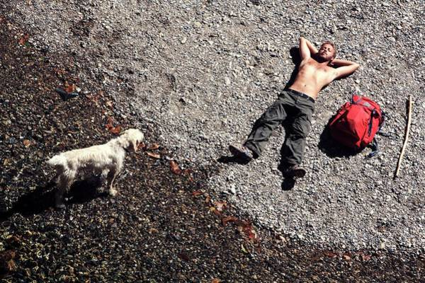 Dog Walker Photograph - Hiking by Mauro Fermariello/science Photo Library
