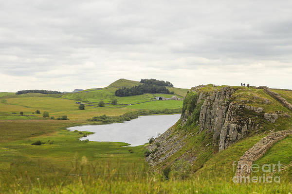 Roman Fort Photograph - Hiking On The Hadrian Wall by Patricia Hofmeester