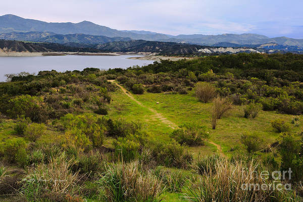 Photograph - Hiking Path To Lake by Richard J Thompson