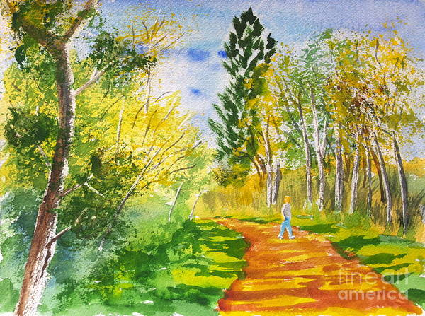 Painting - Hiking The Trail by Walt Brodis