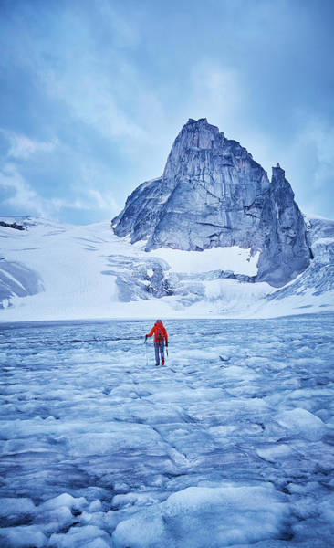 Bugaboo Photograph - Hiking Towards The West Ridge Of Pigeon by Geoff George