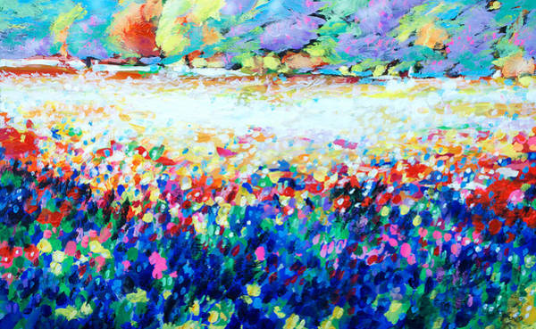 Central Texas Painting - Hill Country Spring Explosion by Charles Wallis