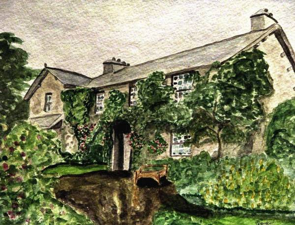 Lake District Painting - Hill Top Farm Home Of Beatrix Potter by Angela Davies