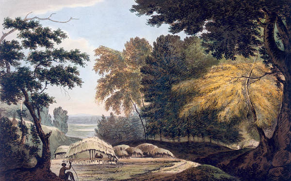 Rural Drawing - Hill Village In The District Of Bauhelepoor by William Hodges