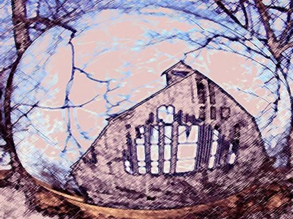 Painting - Hillards Barn by Dennis Buckman