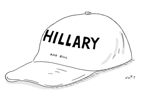 2016 Election Drawing - Hillary And Bill by Kim Warp