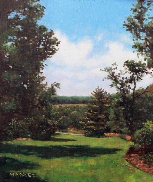 Wall Art - Painting - Hillier Gardens Grass And Trees by Martin Davey