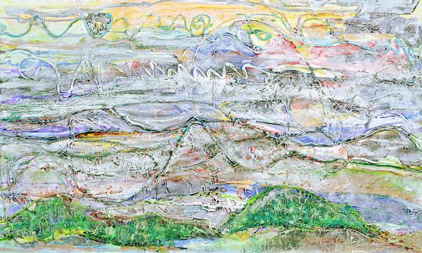 Painting - Hills And Fog by Regina Valluzzi