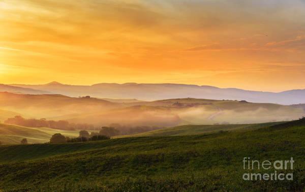 Tuscany Photograph - Hills And Fog by Yuri San