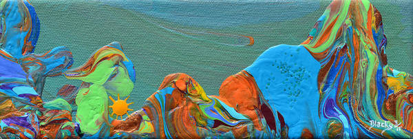 Wall Art - Painting - Hills Of A Different Color by Donna Blackhall