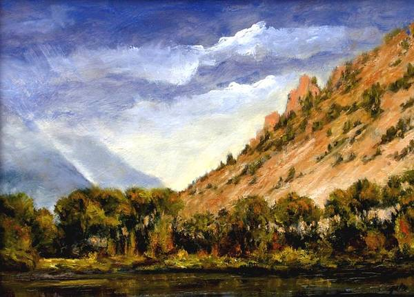 Stream Wall Art - Painting - Hills Of Jackson Wyoming by Jim Gola