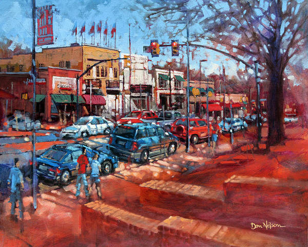 Nc State Wall Art - Painting - Hillsborough Freedom by Dan Nelson